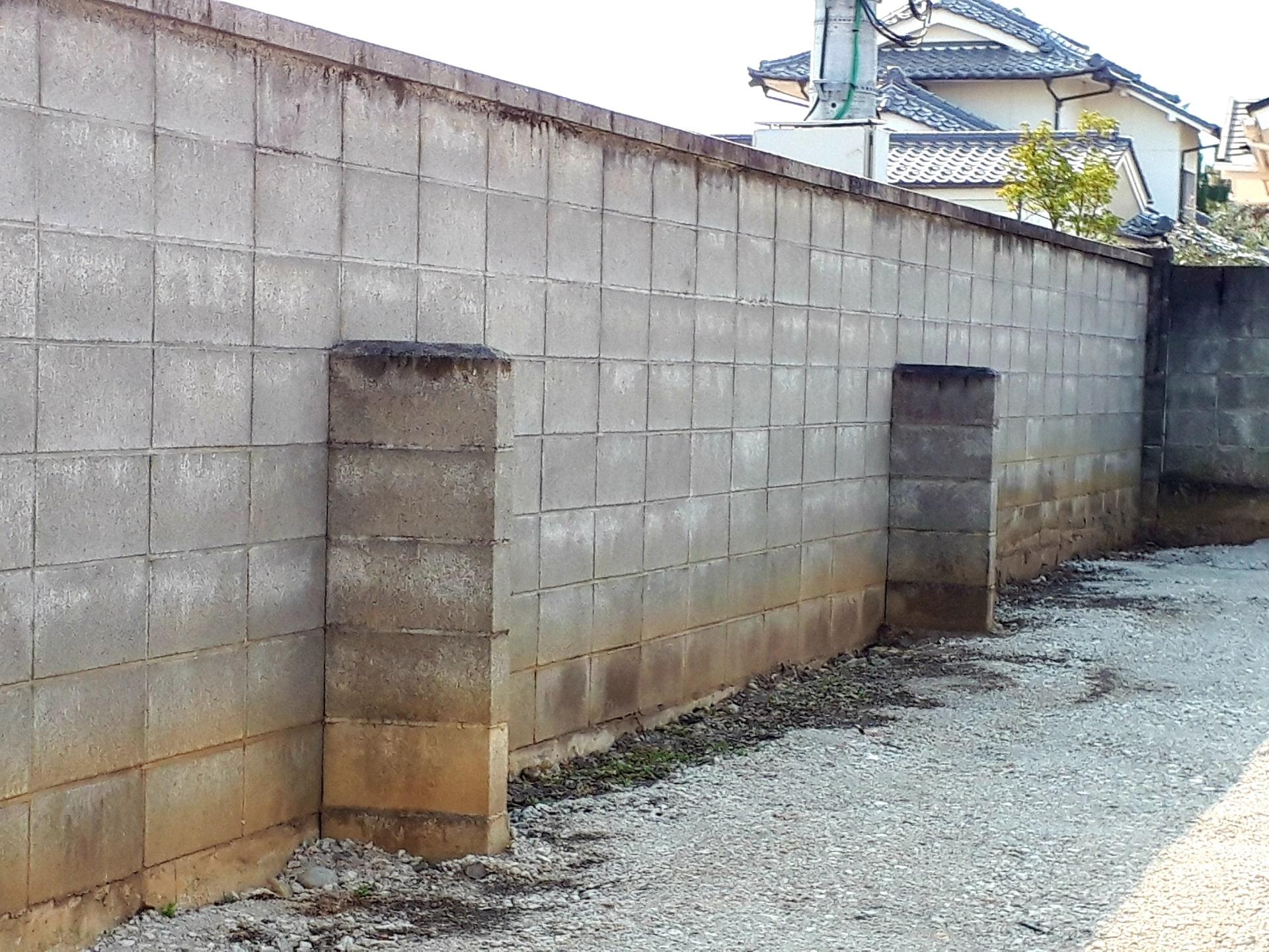 ブロック塀の補強